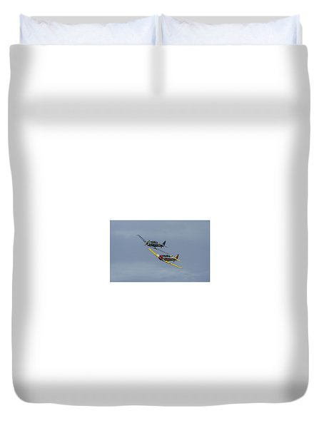 Duvet Cover featuring the photograph T-6 Trainers by Elvira Butler