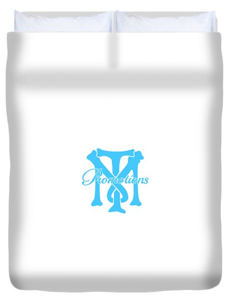 Duvet Cover featuring the drawing T And M Promotions Logo by Nicholas Grunas