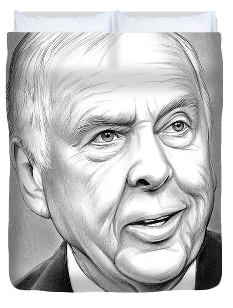 T Boone Pickens Duvet Cover