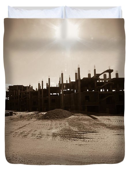 Duvet Cover featuring the photograph T R Lone by Jez C Self