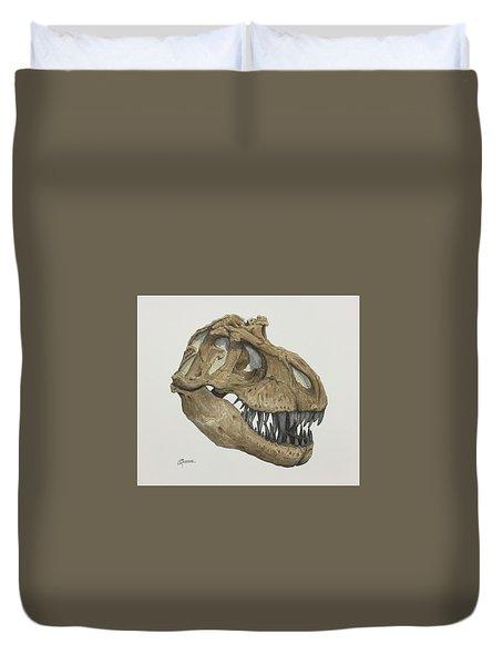 T. Rex Skull 2 Duvet Cover