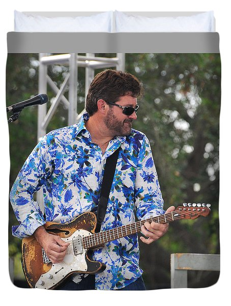 Tab Benoit And 1972 Fender Telecaster Duvet Cover
