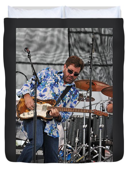 Tab Benoit Plays His 1972 Fender Telecaster Thinline Guitar Duvet Cover