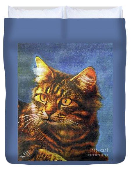 Tabby Blue Duvet Cover