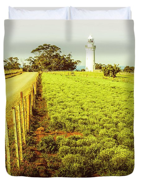 Table Cape Lighthouse Duvet Cover