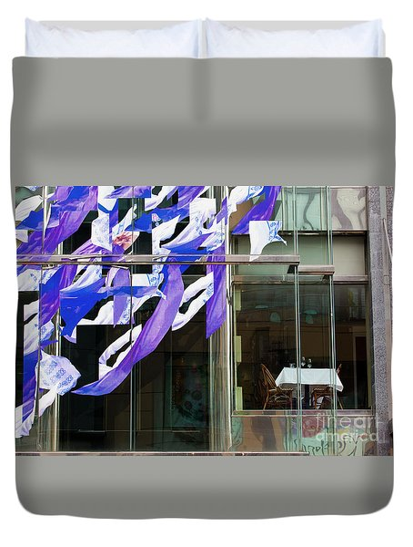 Duvet Cover featuring the photograph Table For Two by Chris Dutton