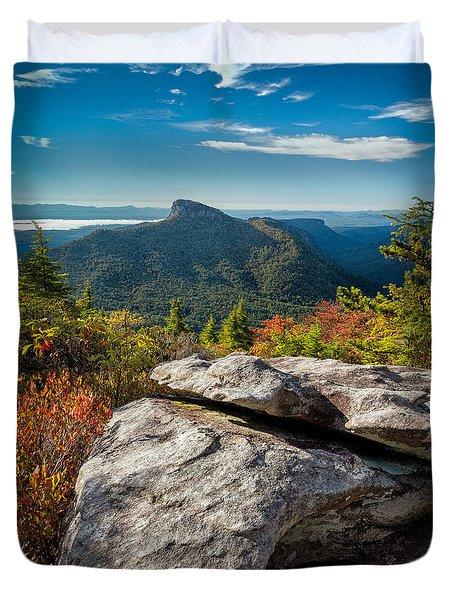 Table Rock Fall Morning Duvet Cover