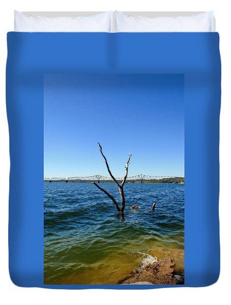 Table Rock Lake Kimberling City Duvet Cover
