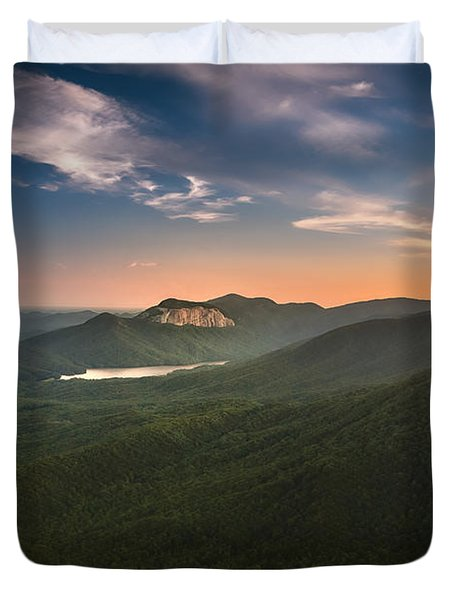 Table Rock Sunset Duvet Cover