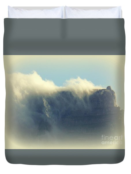Table Rock With Cloud 2 Duvet Cover