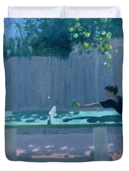 Table Tennis Duvet Cover by Andrew Macara