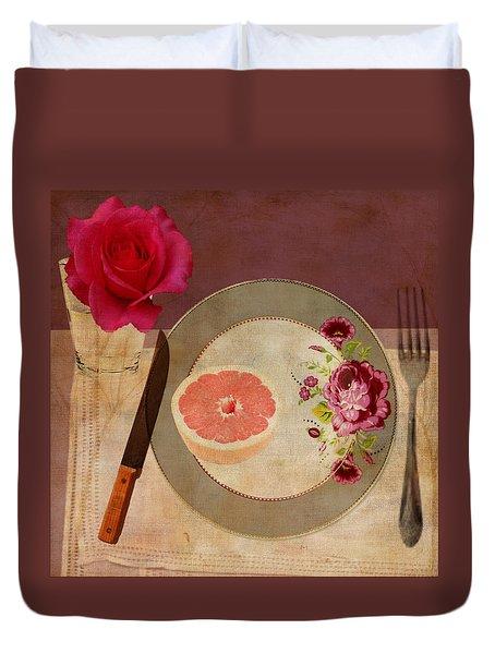 Tablescape Duvet Cover by Lisa Noneman