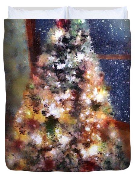 Tabletop Tannenbaum Duvet Cover