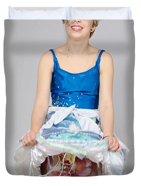 Taetyn In Jelly Fish Dress Duvet Cover