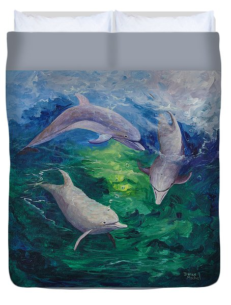 Duvet Cover featuring the painting Tag Your It by Darice Machel McGuire