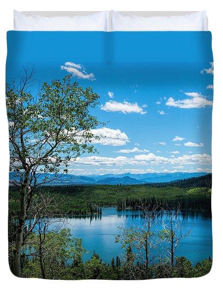 Taggart Lake Duvet Cover by Sharon Seaward
