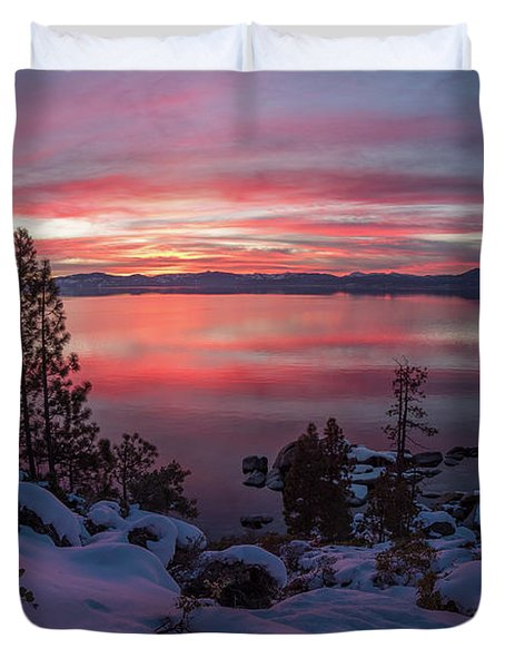 Tahhhhhoe Sunset Duvet Cover