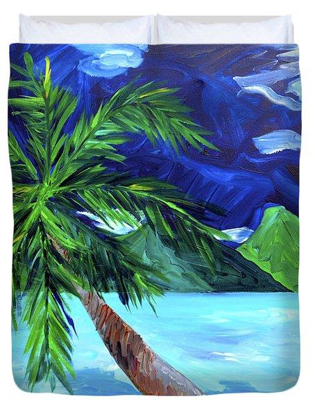 Tahiti Beach Duvet Cover by Beth Cooper