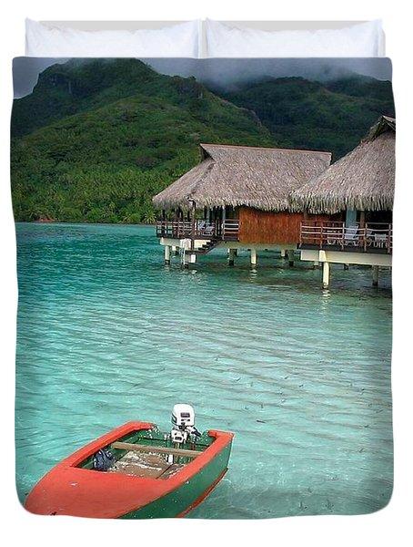 Tahitian Boat Duvet Cover