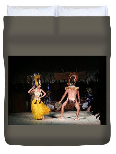 Tahitian Dancers Duvet Cover
