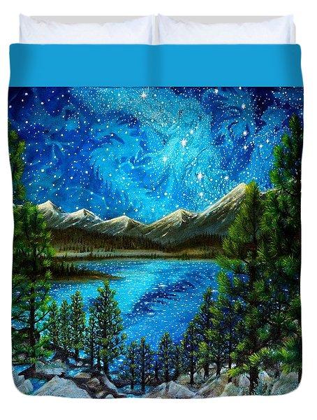 Tahoe A Long Time Ago Duvet Cover by Matt Konar