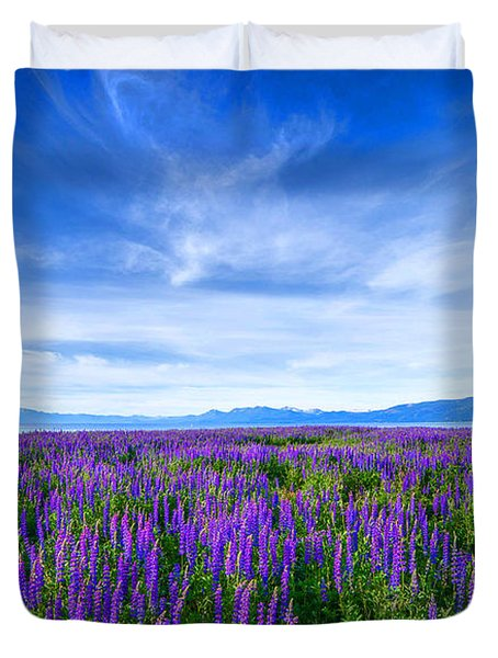 Tahoe Lupines Duvet Cover