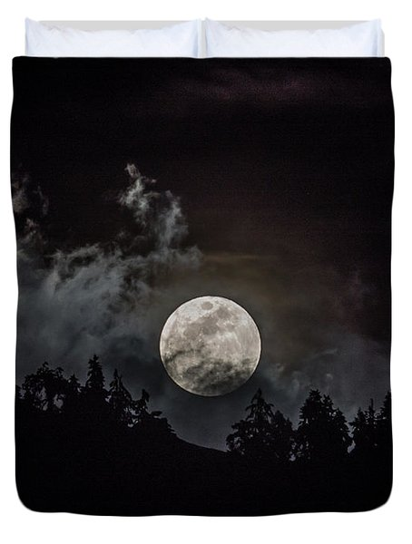 Tahoe Moon Cloud Duvet Cover