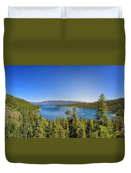 Tahoe Moutain View Duvet Cover