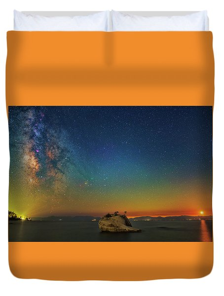 Tahoe Nights Duvet Cover