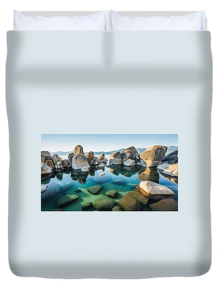 Tahoe Reflections Duvet Cover