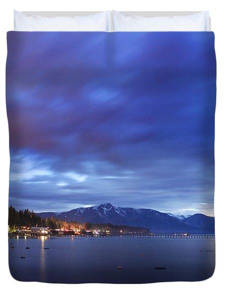 Tahoe Twilight Duvet Cover