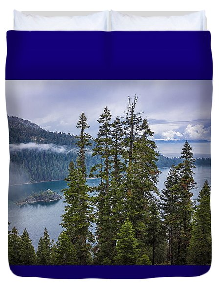 Emerald Bay With Steamboat Duvet Cover