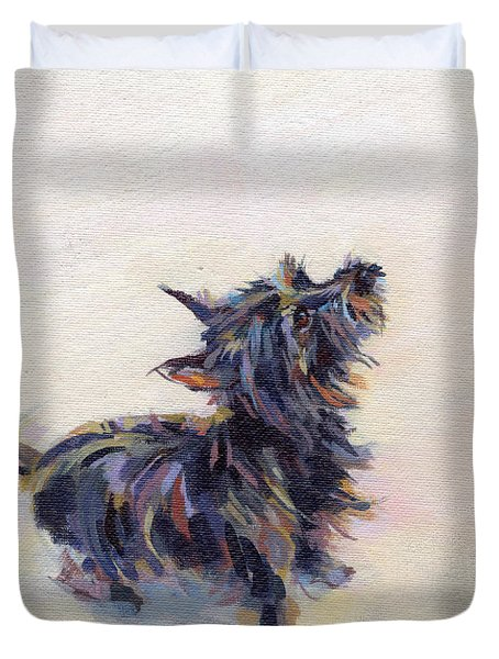 Tail Wagging Fury Duvet Cover by Kimberly Santini