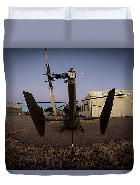 Duvet Cover featuring the photograph Tailblade by Paul Job