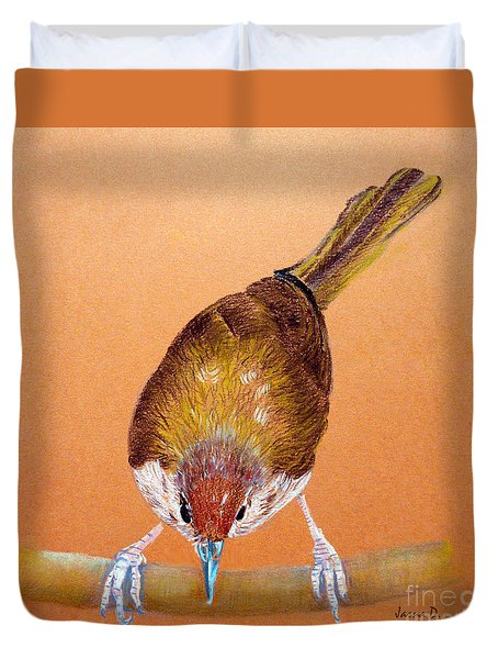 Tailor Bird Duvet Cover