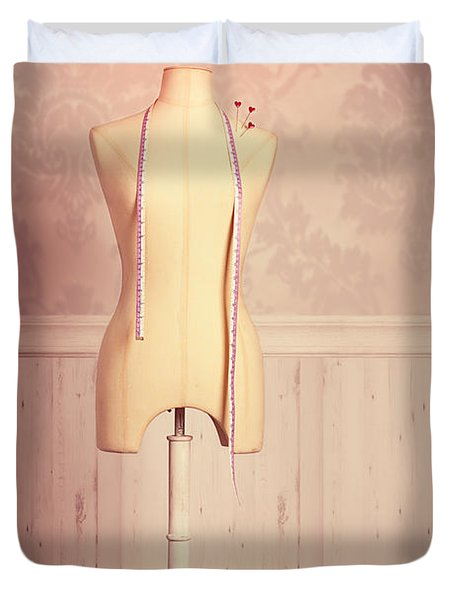 Tailors Dummy With Tape Measure Duvet Cover