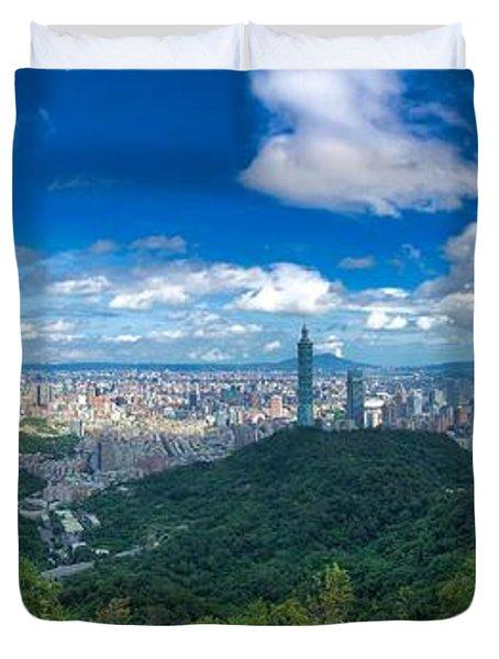 Taipei Panorama Duvet Cover
