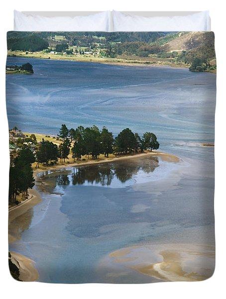 Tairua Harbour Duvet Cover by Himani - Printscapes