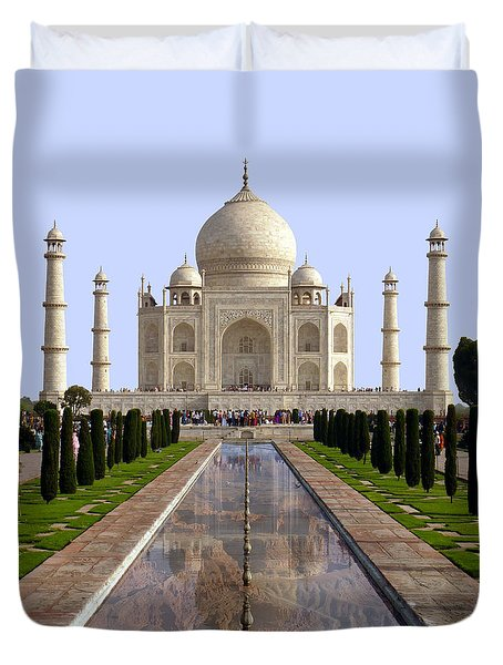 The Taj Mahal - Grand Canyon Mash-up Duvet Cover