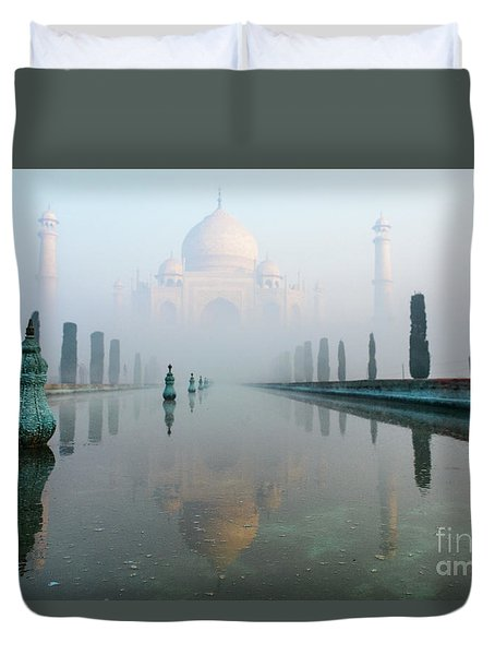 Taj Mahal At Sunrise 01 Duvet Cover