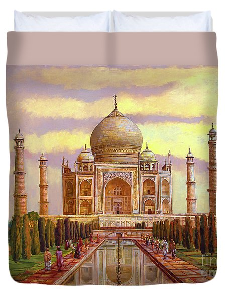 Taj Mahal Duvet Cover by Dominique Amendola