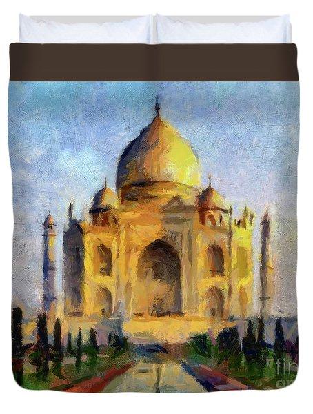 Taj Mahal Duvet Cover by Dragica Micki Fortuna