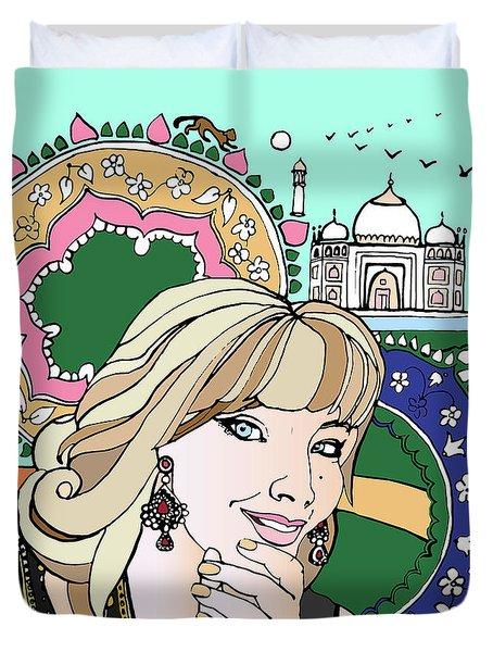 Taj Mahal Memories Duvet Cover