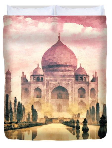 Taj Mahal Duvet Cover by Mo T