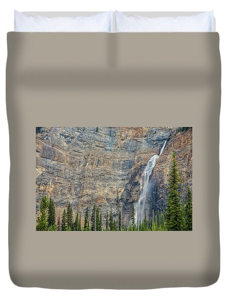 Duvet Cover featuring the photograph Takakkaw Falls 2009 by Jim Dollar