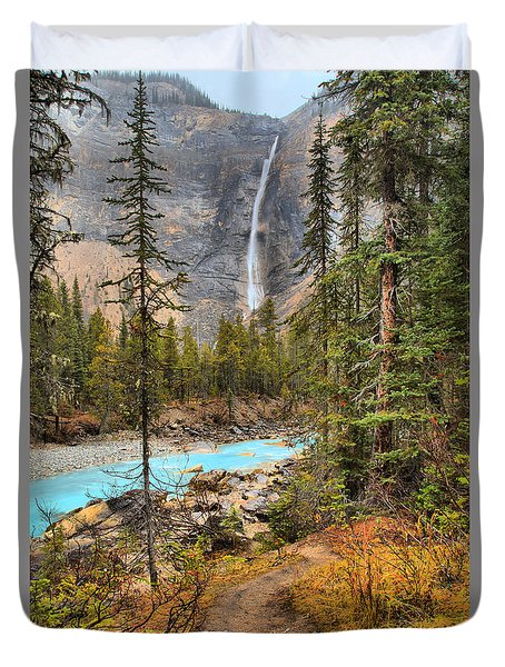 Duvet Cover featuring the photograph Takakkaw Falls Fall Portrait by Adam Jewell