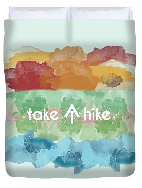 Take A Hike Appalachian Trail Duvet Cover
