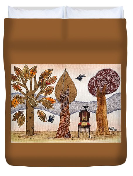 Take A Rest In Autumn Duvet Cover