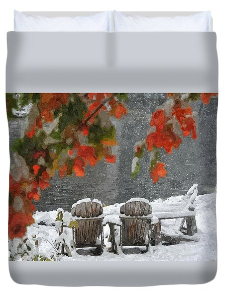 Take A Seat Duvet Cover by Andrea Kollo