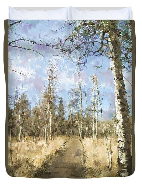 Take A Walk Duvet Cover by Annette Berglund